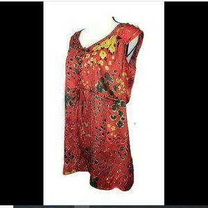 CAbi Floral V-Neck Button Tunic Top Women